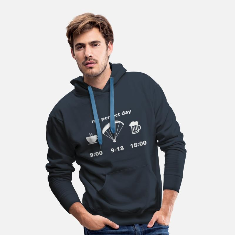Kiteboarding Sweaters - perfect paragliding day - Mannen premium hoodie navy