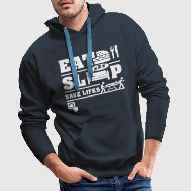 Eat Sleep Save Life  - Men's Premium Hoodie
