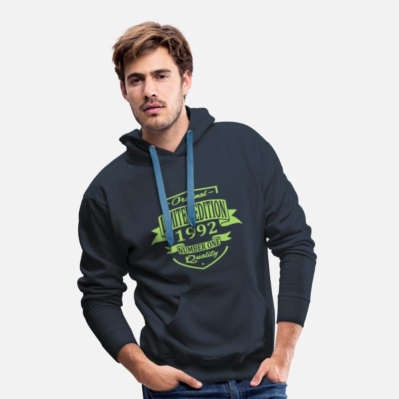 1992 Hoodies & Sweatshirts - Limited Edition 1992 - Men's Premium Hoodie navy