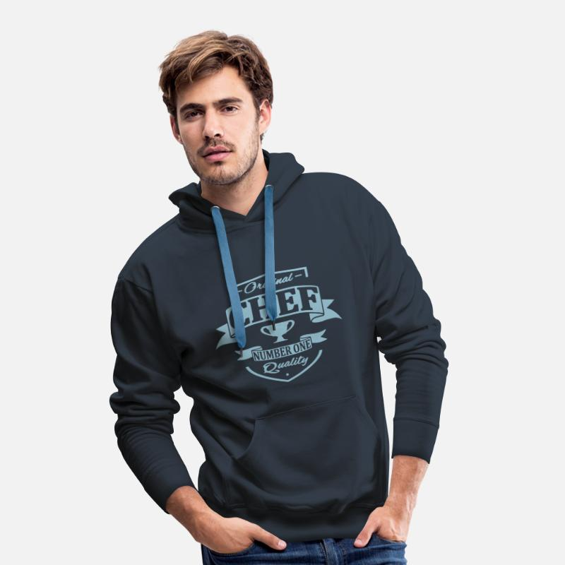 Pizza Sweaters - Chef - Mannen premium hoodie navy