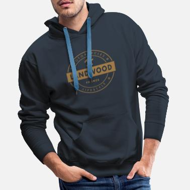 Landwood vintage badge - Sweat-shirt à capuche Premium pour hommes