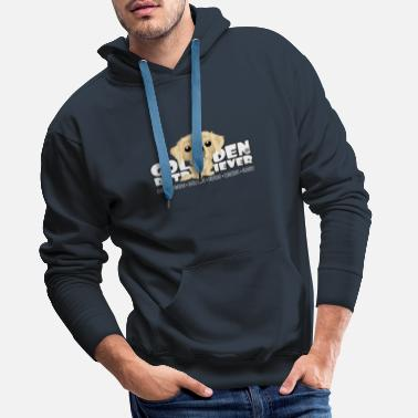 Golden Retriever - DGBigHead - Men's Premium Hoodie