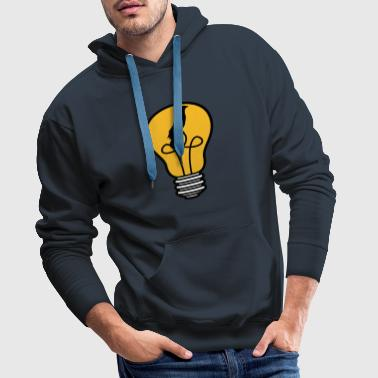 bird kaefig caught little angel bulb light - Men's Premium Hoodie