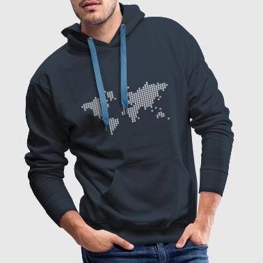 Shop world map hoodies sweatshirts online spreadshirt world mens premium hoodie gumiabroncs Images