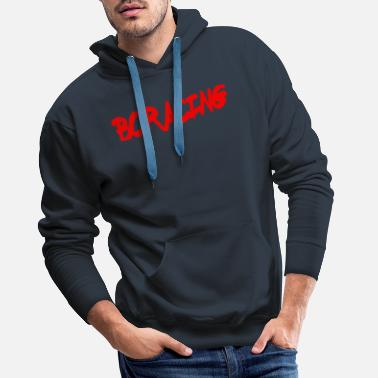 bcracing font red - Men's Premium Hoodie