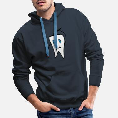 Tand tand - Mannen premium hoodie
