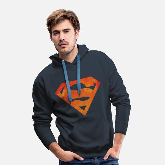 Nerd Sweaters & hoodies - Justice League Superman Logo - Mannen premium hoodie navy