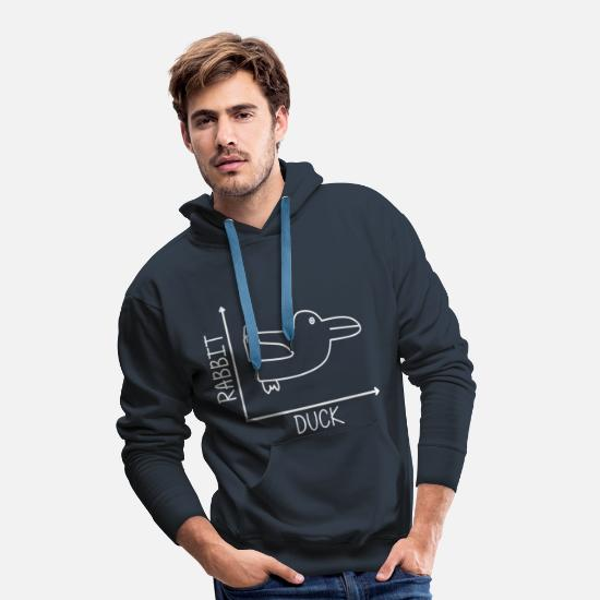 Statistiek Sweaters & hoodies - DUCK RABBIT - Hare Duck - Grafiekles - Mannen premium hoodie navy