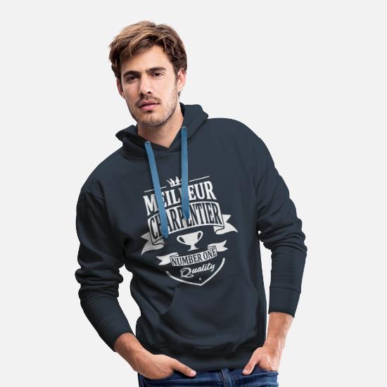 Meilleur Charpentier Sweat shirt à capuche Premium pour hommes noir