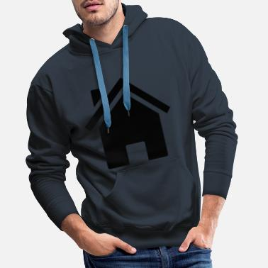 Plain House black - Men's Premium Hoodie