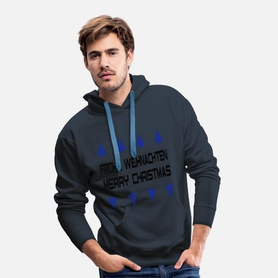 Christmas Hoodies & Sweatshirts - Merry Christmas, Merry Christmas - Men's Premium Hoodie navy
