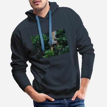 Squirrel monkeys in the wild - Men's Premium Hoodie
