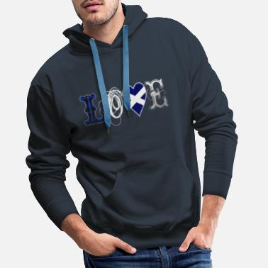 Writing Love Scotland Tartan Edition - white - Männer Premium Hoodie