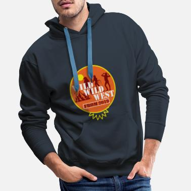 Stars WILD WILD WEST Cadeau du Far West - Sweat à capuche premium Homme