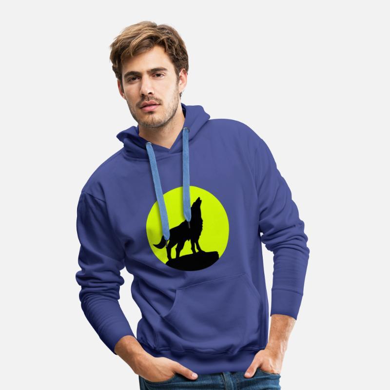 Giacca in Felpa in nero con lupo animali /& Natura Motivo Modello Wilderness Wolf