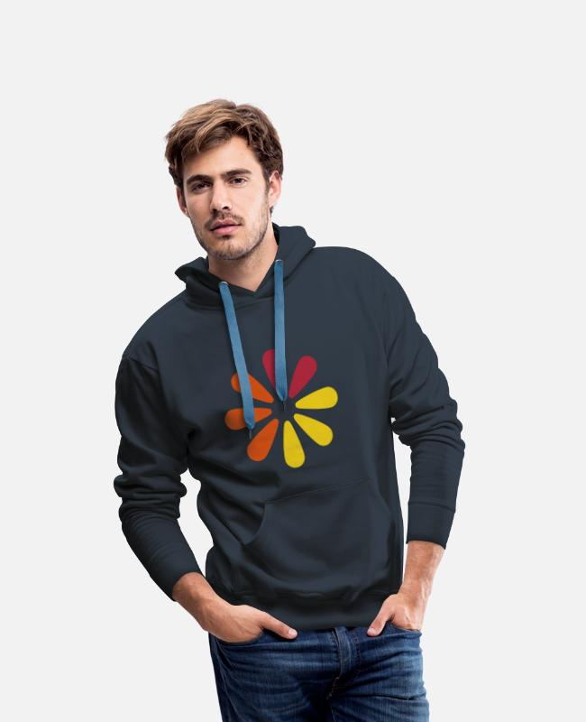 Humour Blossom Science Hoodies & Sweatshirts - ajax loader - Men's Premium Hoodie navy