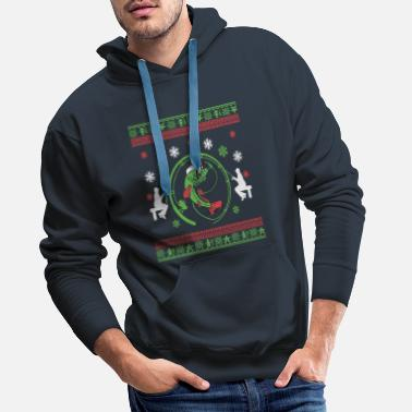 Ugly Christmas angler pikeperch gift ideas - Men's Premium Hoodie