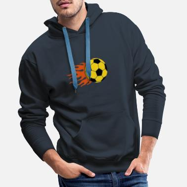 Football burning ball - Men's Premium Hoodie