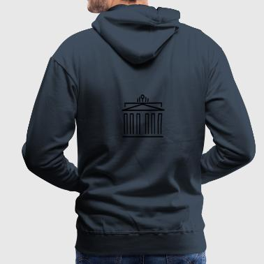 Berlin Brandenburg Gate Triumphal Gate - Men's Premium Hoodie