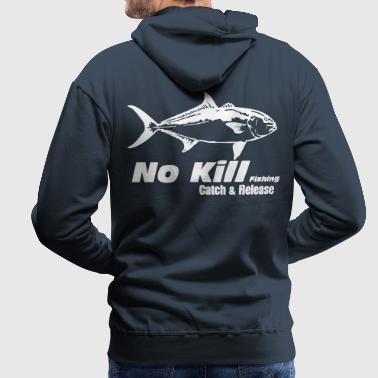 No-Kill  amberjack - Sweat-shirt à capuche Premium pour hommes
