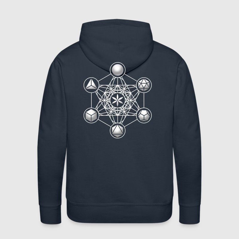 Metatrons Cube, Platonic Solids, Sacred Geometry - Men's Premium Hoodie