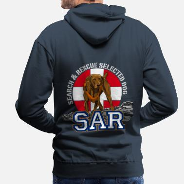 Search &amp search and rescue dog 1 - Men's Premium Hoodie