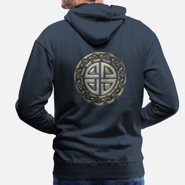 Celte Celtic shield knot, Protection Amulet, Viking - Men's Premium Hoodie