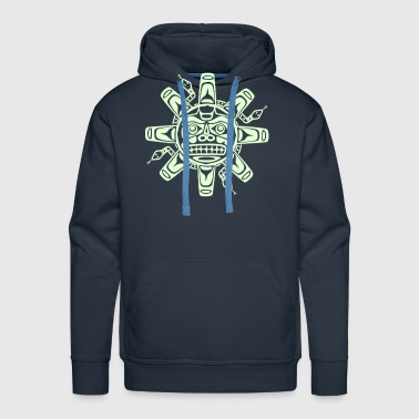 Native american sun, tribal art symbol, indians, - Men's Premium Hoodie