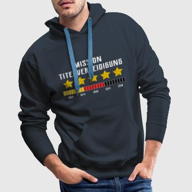 Germany Fußball Fanshirt title defense - Men's Premium Hoodie