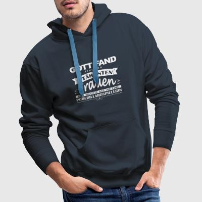 Pool Billiards Shirt God Found - Men's Premium Hoodie