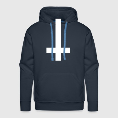 Cross Antichrist reversed 1c - Men's Premium Hoodie