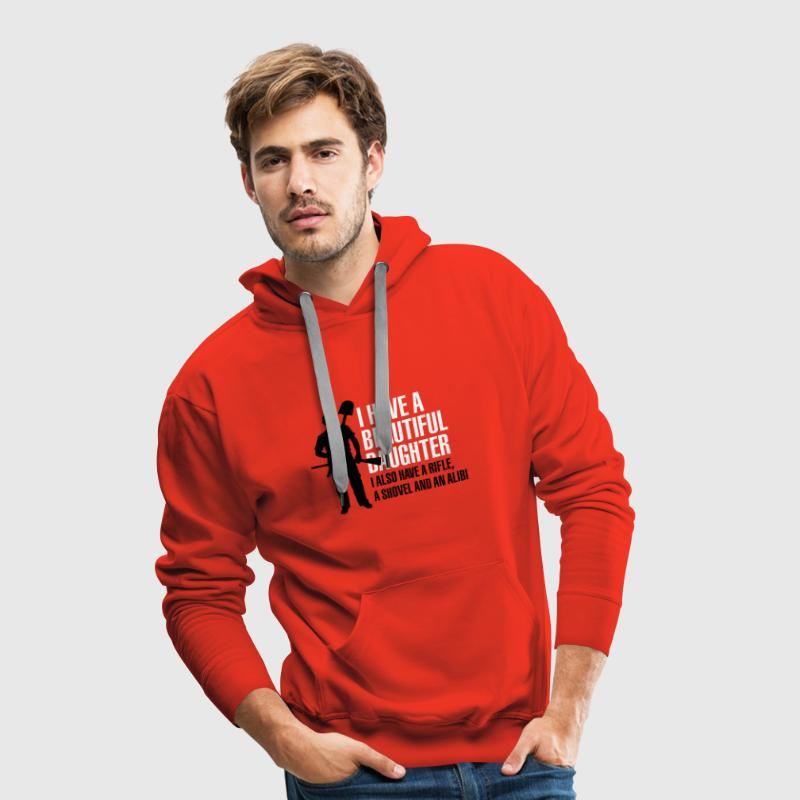 I have a beautiful daughter - Mannen Premium hoodie