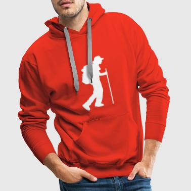Hiker, excursion, excursion, live nature - Men's Premium Hoodie