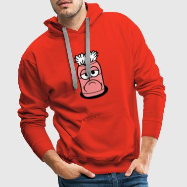worm hole floor face funny comic cartoon clipa - Men's Premium Hoodie