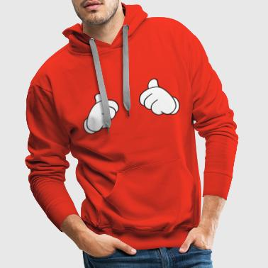 Thumbs up! - Sweat-shirt à capuche Premium pour hommes