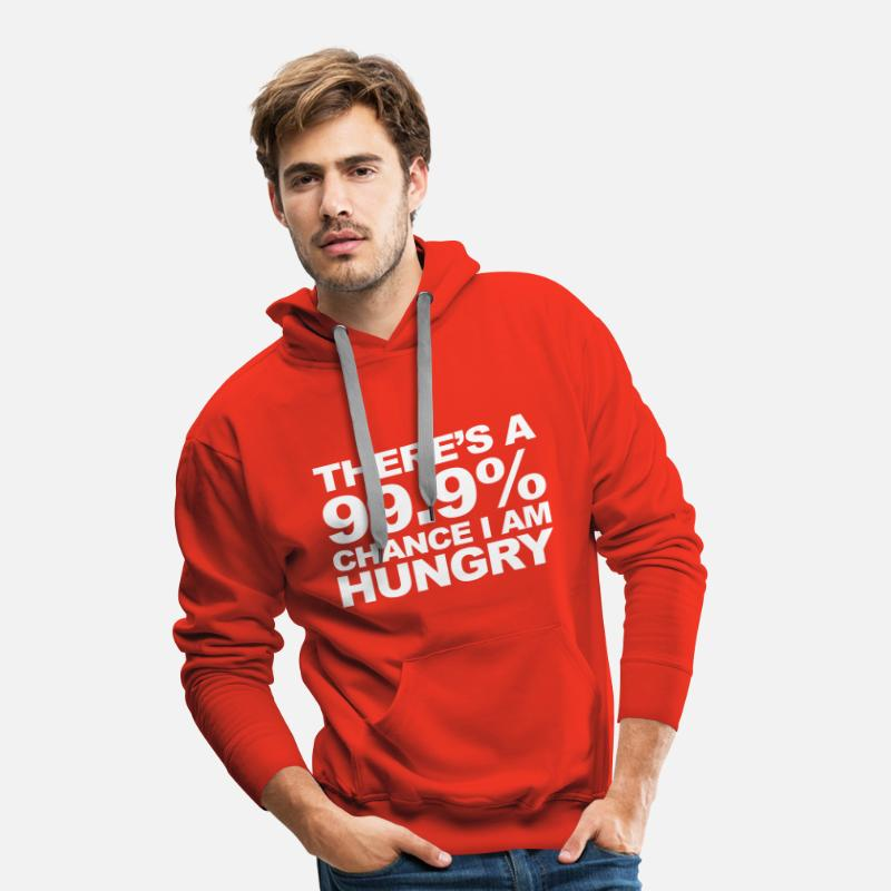 Hungry Hoodies & Sweatshirts - Hungry - Men's Premium Hoodie red