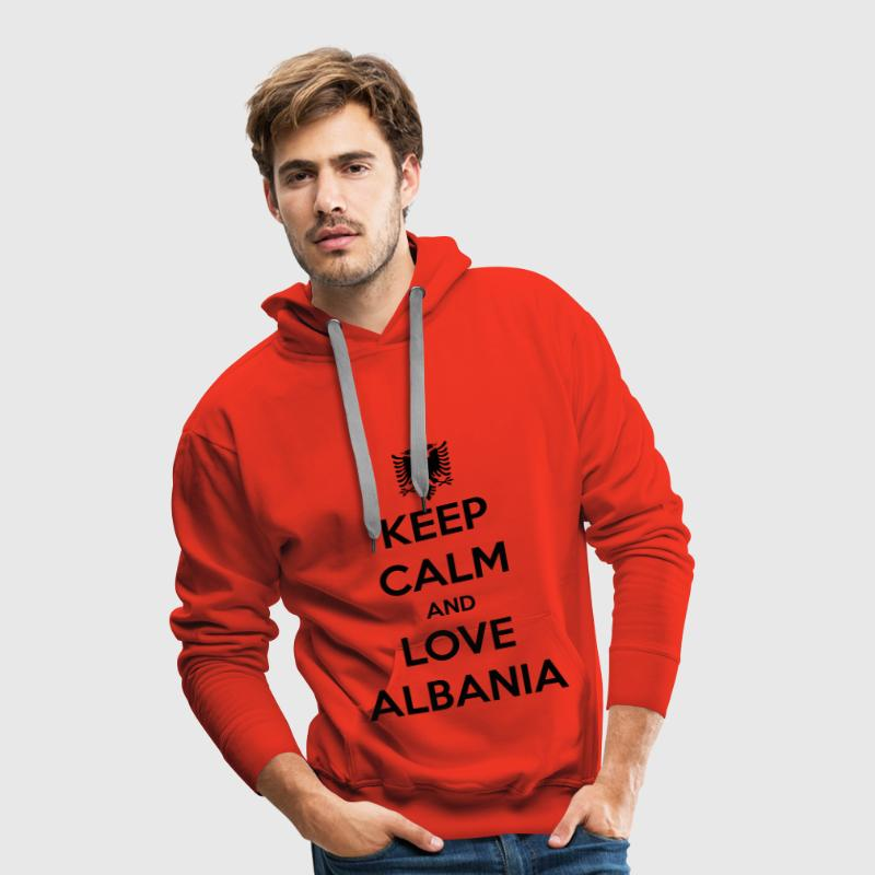 KEEP CALM AND LOVE ALBANIA - Premium hettegenser for menn