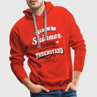its a skinner name surname thing - Men's Premium Hoodie
