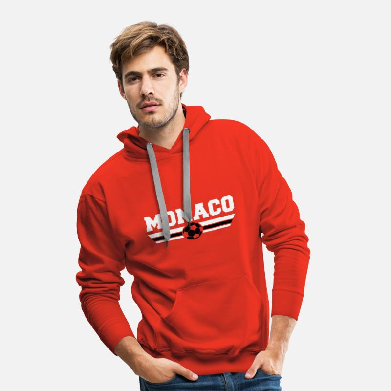 Monaco Sweat-shirts - Monaco Football Club - Sweat à capuche premium Homme rouge