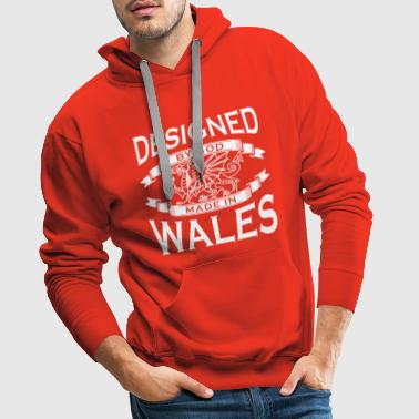 Designed by God - Wales M - Men's Premium Hoodie