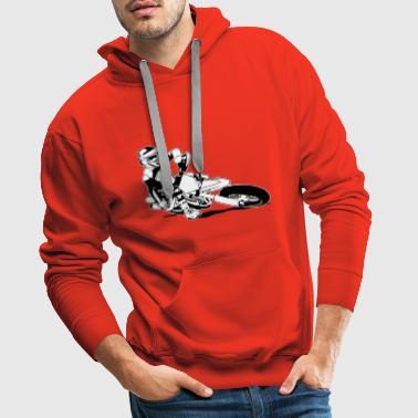 Supermoto Racing - Sweat-shirt à capuche Premium pour hommes
