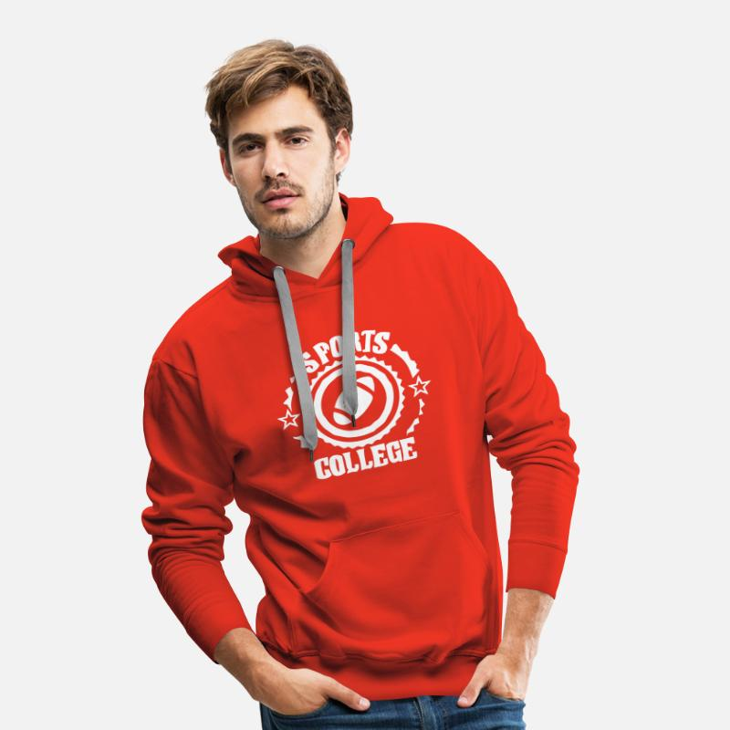 Américain Sweat-shirts - sports college football americain - Sweat à capuche premium Homme rouge