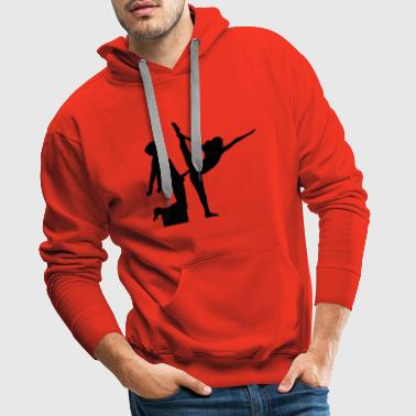 yoga figure fitness splits sexy girl female hot - Men's Premium Hoodie