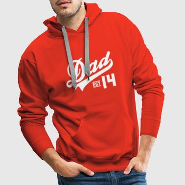 Established Dad Established 2014  - Mannen Premium hoodie
