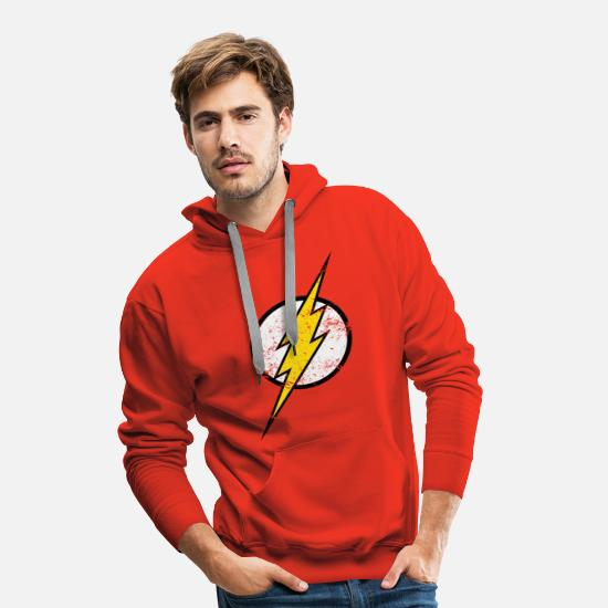 Superhelden Pullover & Hoodies - The Flash Logo vintage - Männer Premium Hoodie Rot