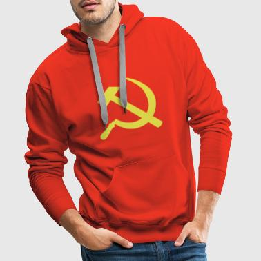 Sickle Hammer Communist Flag - Men's Premium Hoodie