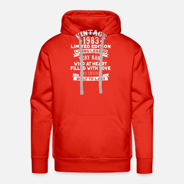 1983 Vintaged 1983 Living Legend Built To Last - Men's Premium Hoodie