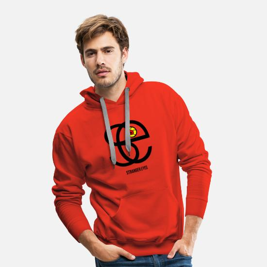 Rouge Sweat-shirts - Stranger eyes 2 - Sweat à capuche premium Homme rouge