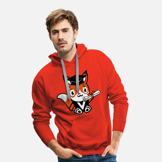 High School Senior Hoodies & Sweatshirts - graduation certificate college graduation school success - Men's Premium Hoodie red
