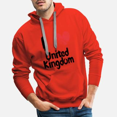 United Kingdom I love United Kingdom - Männer Premium Hoodie